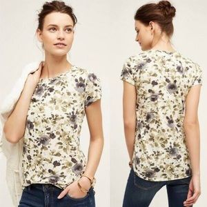 Anthropologie | Flower Days Floral Tee